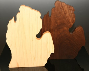 Michigan State Shaped Cutting Board