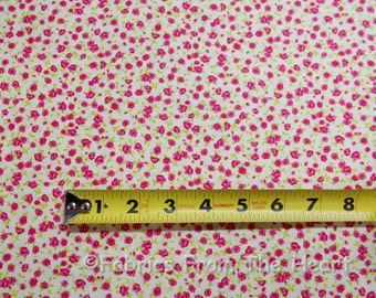 Tiny Red Pink Roses Garden Flowers on White Timeless Treasure Fabric BY YARDS