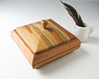 Modern Wood Jewelry Box, Mid Century, Mother's Day