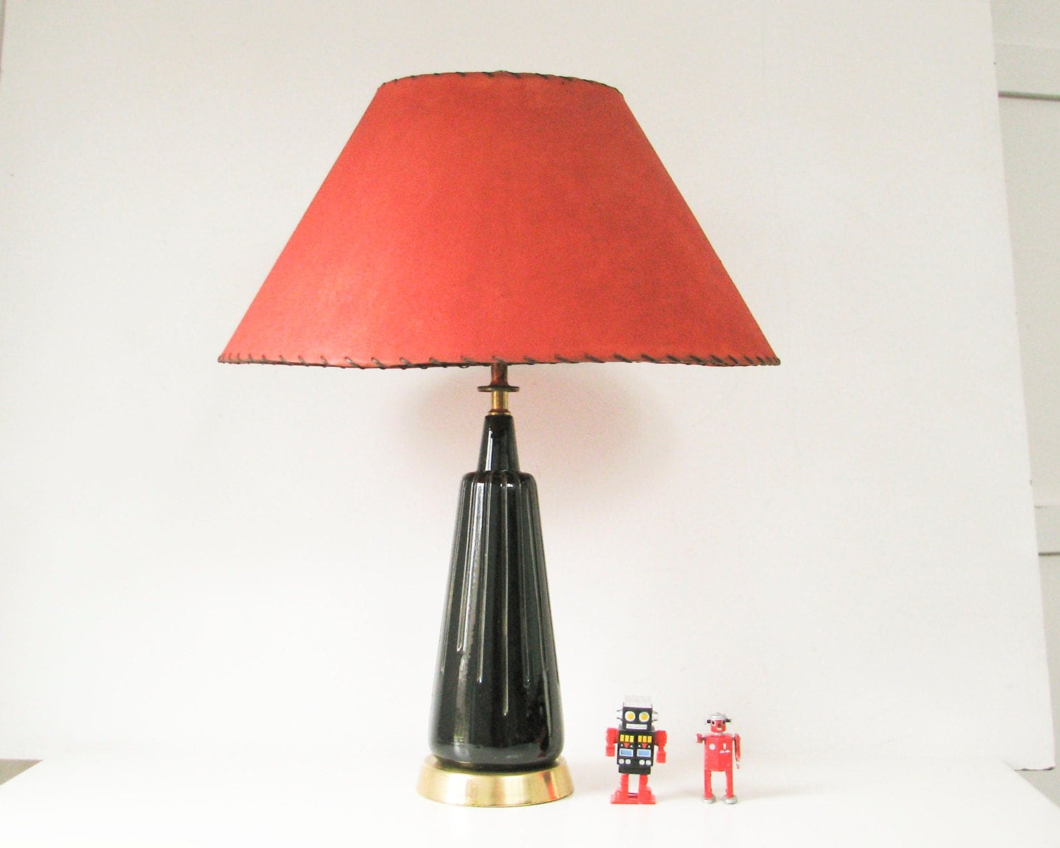 mid century modern table lamp black ceramic lamp modern. Black Bedroom Furniture Sets. Home Design Ideas