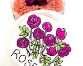 rose salt scrub . 4oz