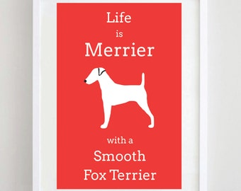 Smooth Fox Terrier - Dog Print - Dog Picture - Dog Breed - Terrier Print - Pet Lover - Dog Gift