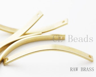 10pcs Raw Brass Curved Link 40x3.2mm (1739C-T-39)