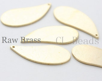 10pcs Raw Brass Long Tear Drop Charm - 28x12mm (1704C-T-69)