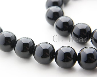 One Strand (15.5 Inches) Black Onyx Stone-Round 16mm (103)