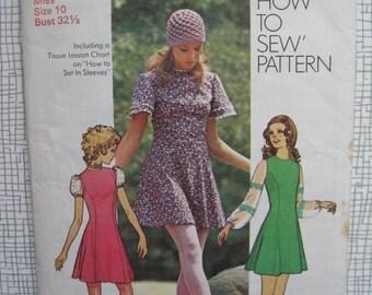 """1971 Princess Dress - 32.5"""" Bust - Simplicity 9804"""