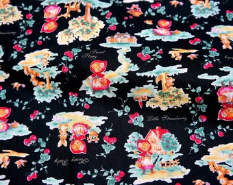 Little Red Riding Hood Print Japanese Fabric