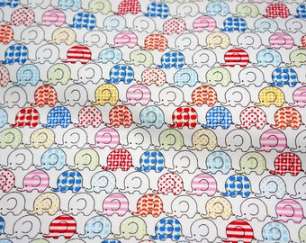 Tiny Elephant Print Japanese fabric (n431)