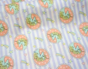 Unicorn fabric fat quarter 19.6 by 21 inches or 50 cm by 53 cm (n321)