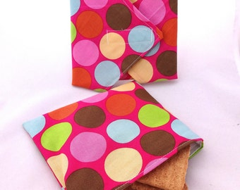 Polka Dot Reusable Lunch Duo - Sandwich Wrap and Snack Bag