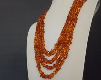 FREE SHIPPING - Amber Multi Strand Necklace