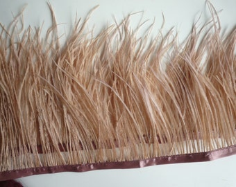 VOGUE OSTRICH Feather Fringe , Dark Tan, Light Terra Cotta / 311