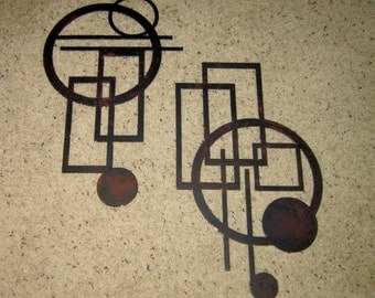 Abstract One and Two-Metal ARt-abstract art-modern art-home decor-art deco