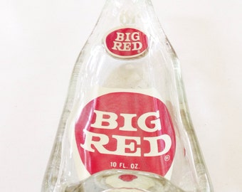 Big Red Upcycled bottle tray - spoon rest, candy dish, jewelry tray, ashtray - Vintage Big Red - order by Dec 17 for Xmas
