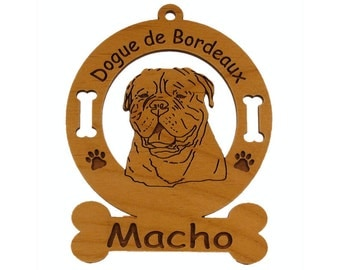 3120 Dogue de Bordeaux Personalized Dog Ornament