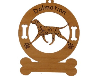3049 Dalmatian Gaiting  Personalized Dog Ornament