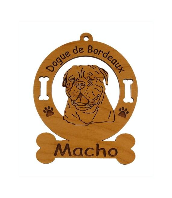 3120 Dogue de Bordeaux Personalized Dog Ornament