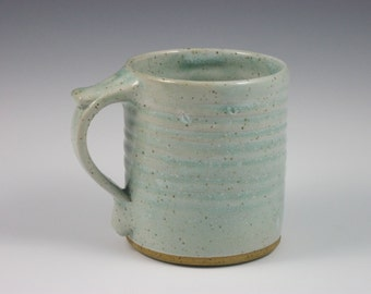 Glossy Pale Green Thumbrest Coffee Mug