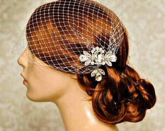 Birdcage veil, Wedding Hair Accessories, Bridal Birdcage Veil, Wedding Veil Birdcage, bridal headpiece