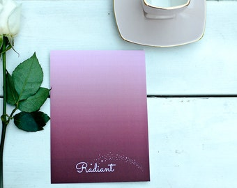 Radiant - Word of the Year - Postcard with envelope