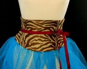 Animal Print Waist Cincher Corset Belt Any Size