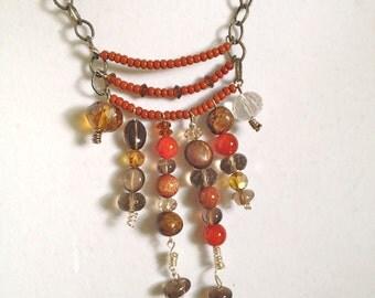 women jewelry necklace,handmade wired beaded necklace bib