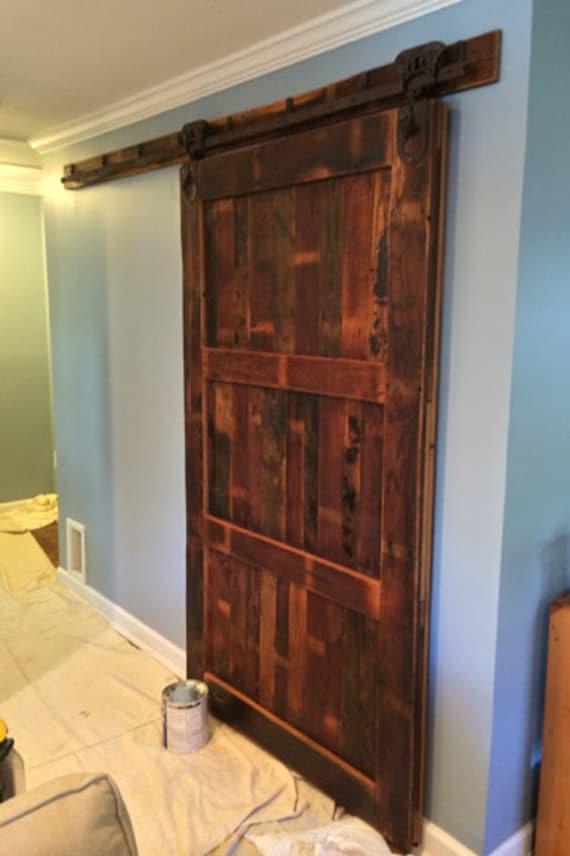 Porta scorrevole in fienile da legno recuperato e Hardware