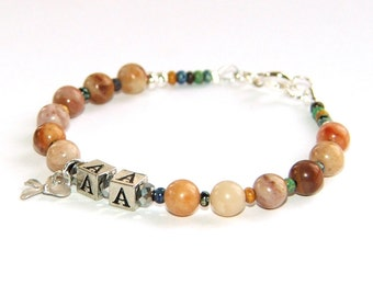 12 Step Recovery Bracelet, Personalized Sobriety Jewelry / You Choose Letters