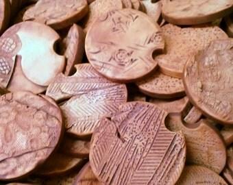 Handmade Pottery Car Coasters