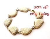 SALE only today ~ Druzy white bracelet