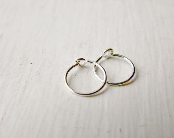 Sterling Silver Tragus Hoop Earrings