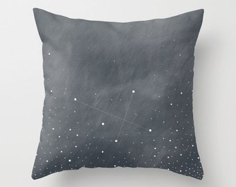 Southern Cross Constellation Throw Pillow Cover // Crux Constellation // astronomy // stars decor // accent pillow // home decor