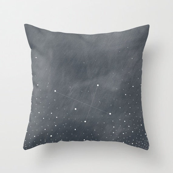 Southern cross constellation throw pillow cover by for Constellation fleece fabric