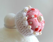 Retro Cherry Ring Pincushion