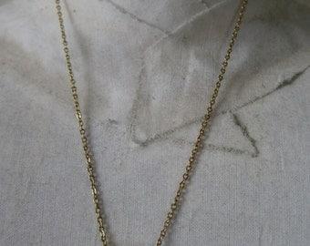 Gold F Initial Necklace Letter Vintage