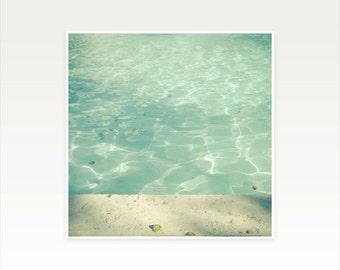 Swimming Pool Art. Photographic  Print - Morning Swim
