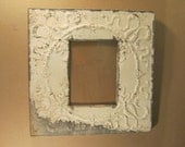 SHABBY Architectural Salvaged Recycled Tin Ceiling 8x10 Frame Vintage S1407-13