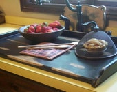 Rustic Primitive Breadboard Kitchen SINK COVER - Lg  or Stove Top  Board Cover