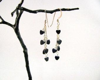 Bluestone Heart Sterling Earrings RKS456
