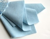 Aquamarine, Wool Felt Fabric, 100% Merino, Choose Size, 1mm Thick Felt, Pale Blue, Pastel Blue, Wool Applique, DIY Craft Supply, Toxin Free