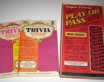 3 Vintage (1984) Trivia Books