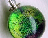 Silver Bubble Charm Emerald City Map