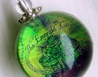 Silver Bubble Charm Emerald City Map