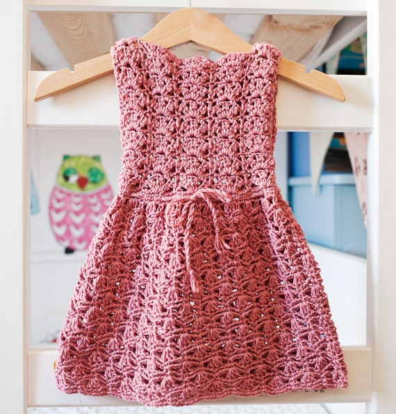 Crochet Dress : Crochet PATTERN - Scalloped Neckline Lace Dress (baby, toddler, child ...