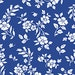 Delft Flora Fabric l 1/2 Yard from the Blue Moon Collection by Kennsington Studios for Quilting Treasures