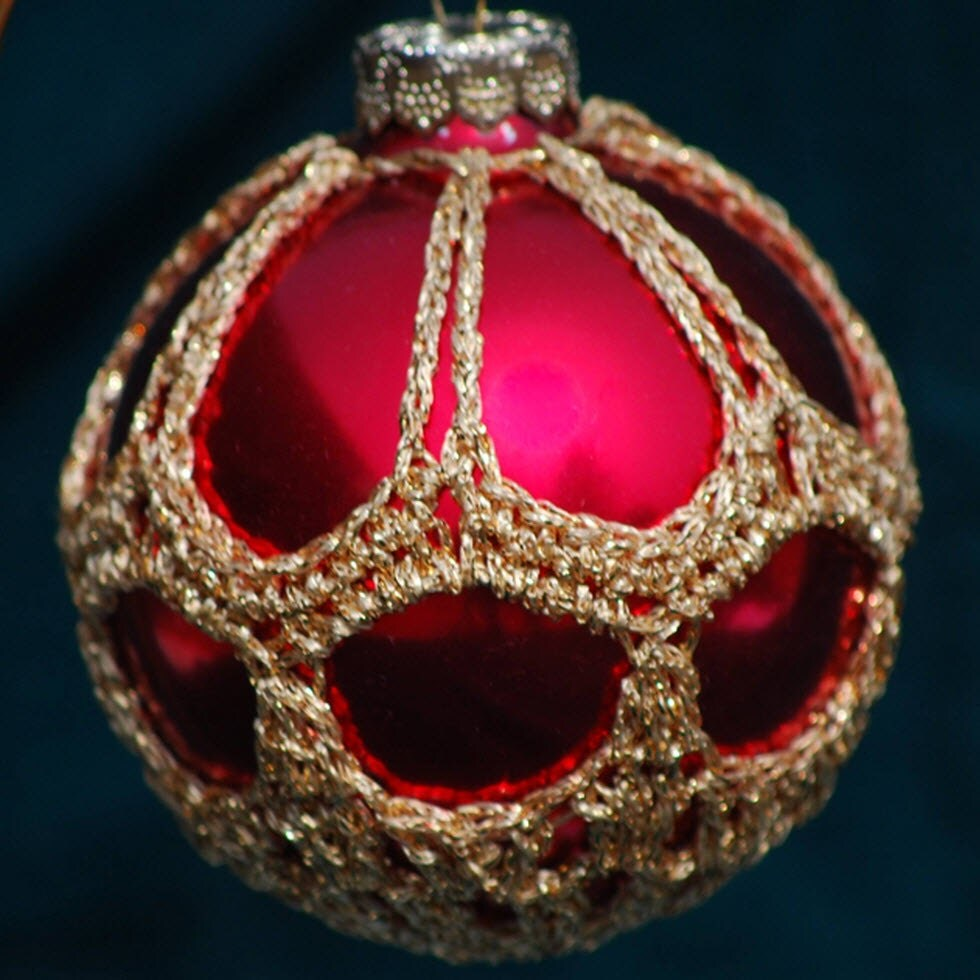 Crochet Christmas Ornament Covers PDF Pattern from Book