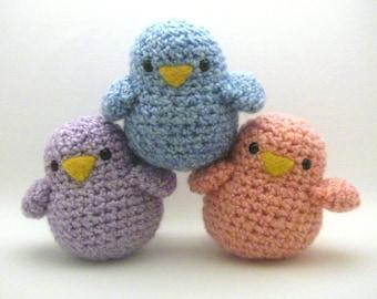 Crochet  Toy Pattern - Fat Birdy