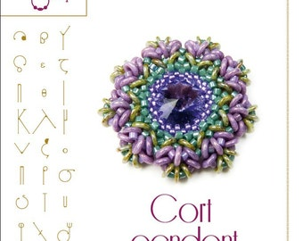 pendant tutorial / pattern Cort pendant...PDF instruction for personal use only