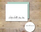 Personalized Note Cards . Stationery . Bike Stationery . Family Stationary - Family Ride, Mother's Day Gift, Gift for Mom
