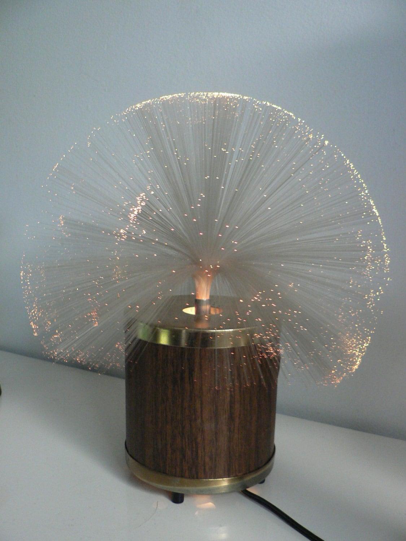 optical fiber rotating lamp diagram fiber optic matv diagram vintage 1970s fiber optic rotating lamp / space age lamp/